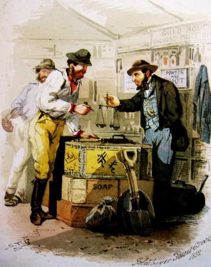 S.T.Gill: Gold-Buyer, Forest Creek, c. 1852