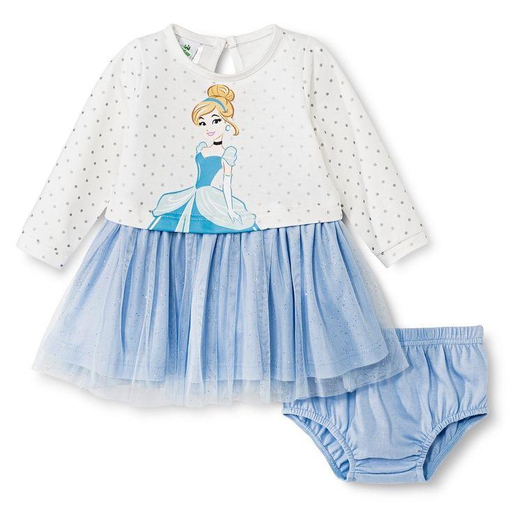 Cinderella Newborn Girls' Dress Set - Beige 0-3 M