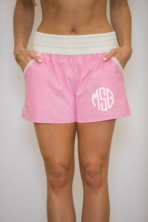 Pink Lace Shorts - The Pink Lily