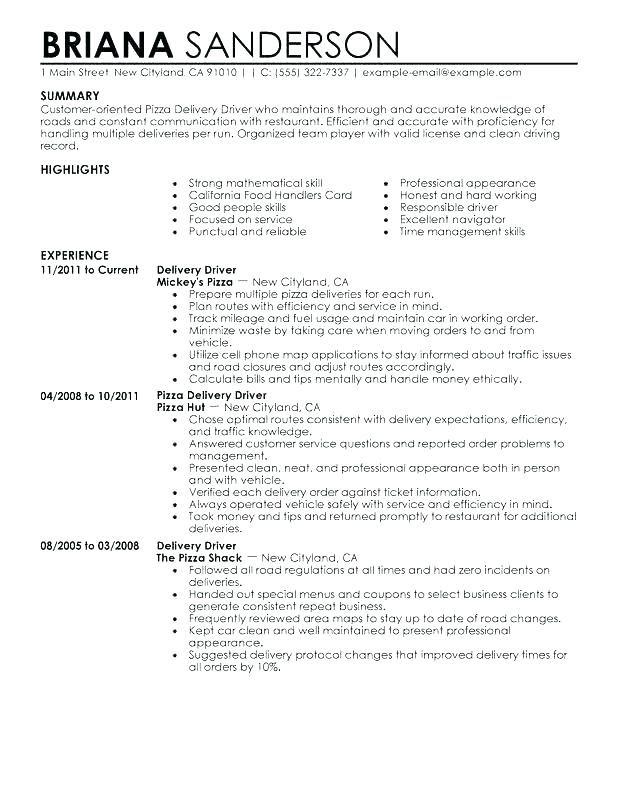 Resume Examples For Restaurant Example Urant Server