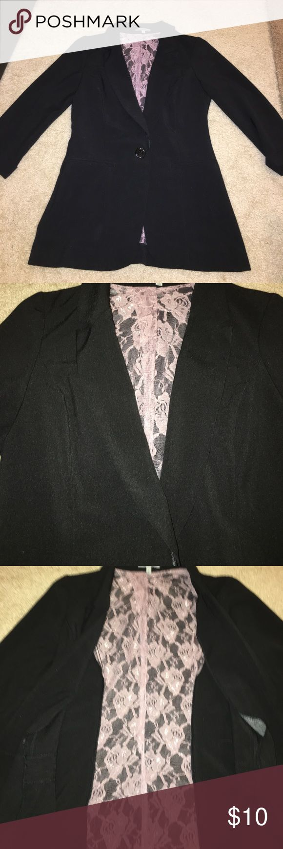 Black 3/4 sleeved blazer Black 3/4 sleeved blazer from Charlotte Russe. In great condition only worn a few times. Great for starting your career! Pockets are faux. Charlotte Russe Jackets & Coats Blazers