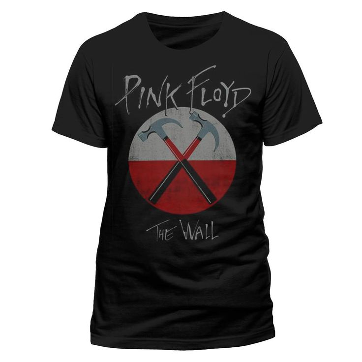 Pink Floyd - The Wall Logo heren unisex T-shirt zwart - S - Band merc