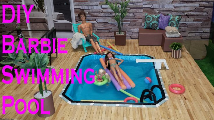 Diy Barbie Swimming Pool Barbie House Pinterest Swimming Pools Barbie House And Dolls