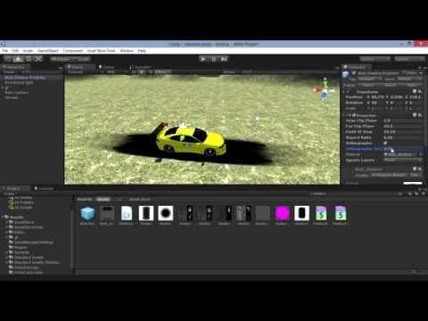Unity3D Sombras falsas (fake shadow) - YouTube