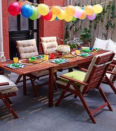fiesta terraza madera