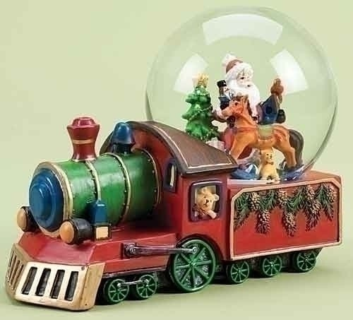 """8"""" Battery Operated Musical Santa Claus Train Christmas Snow Globe Glitterdome by Roman, http://www.amazon.com/dp/B005G0M8DG/ref=cm_sw_r_pi_dp_IsSRpb1N05NS3"""