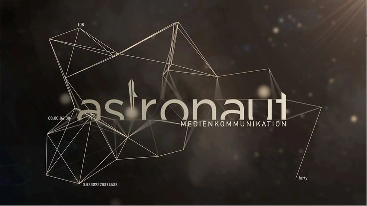 A logo animation for the new 2012 showreel of astronaut Medienkommunikation.