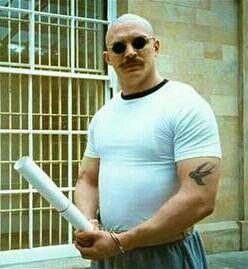 Tom Hardy / Bronson. Them guns...