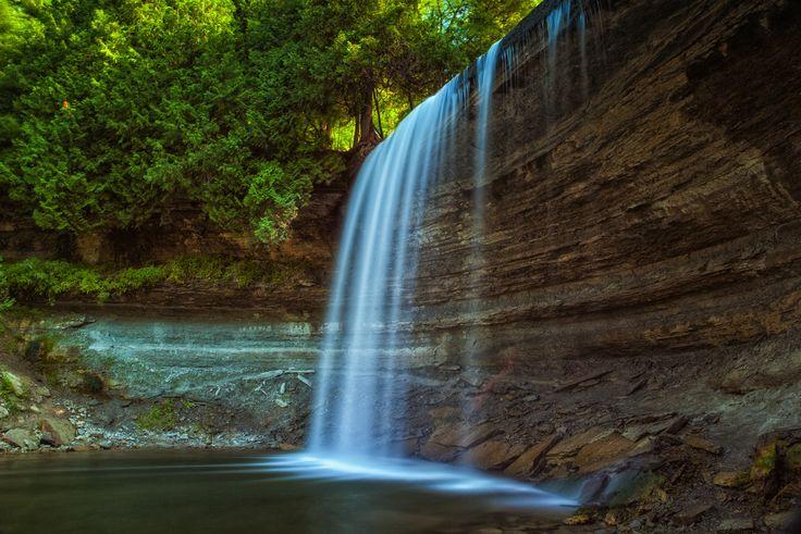 Bridal Veil Falls on Manitoulin Island, Northeastern Ontario, Canada #NEOntario