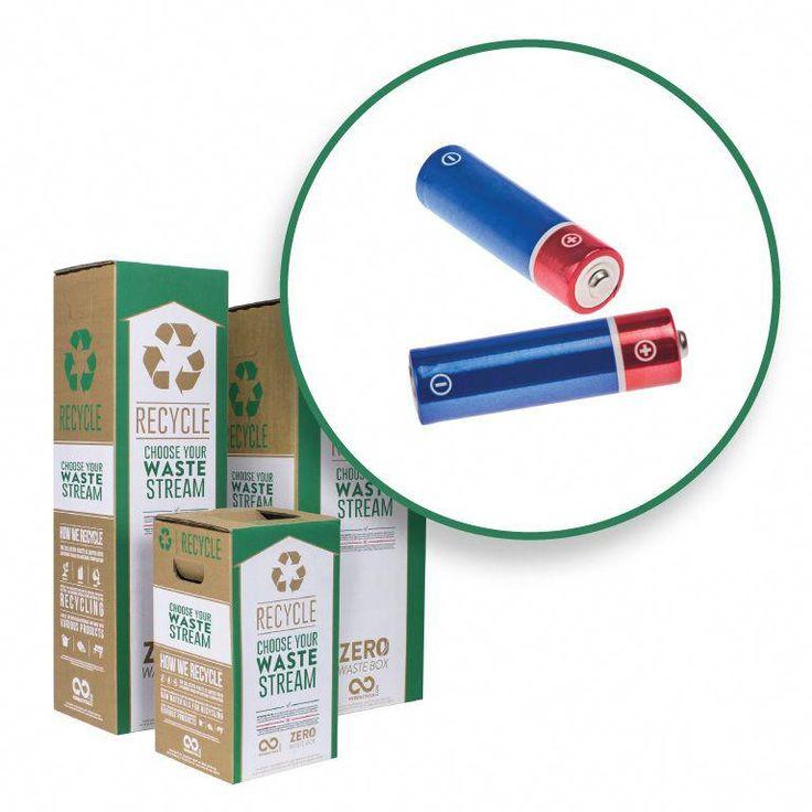 Recycle Alkaline Batteries Zero waste boxes, Zero waste