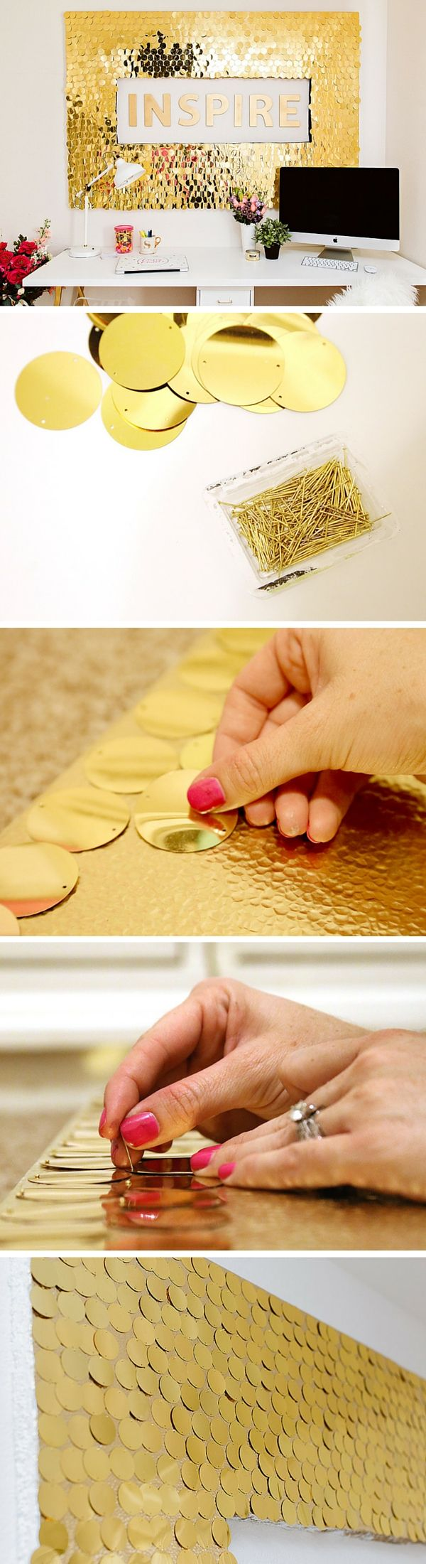 Check out the tutorial: #DIY Sequins Wall Art #crafts #decor