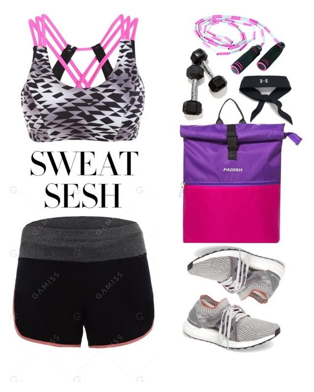 """Sweat Sesh: Gym Style"" by justkejti ❤ liked on Polyvore featuring adidas and Under Armour"