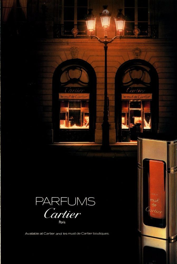 CARTIER Perfume Paris Color 1982 ADVERTISEMENT #Cartier