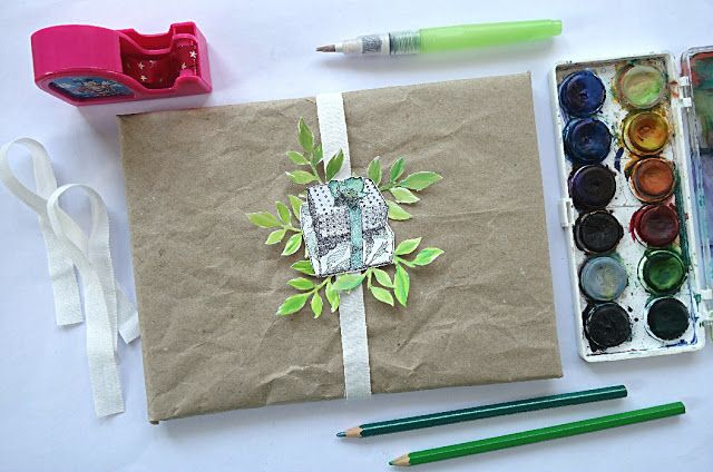 inspiration: rustical and ecological gift wrapping tutorial