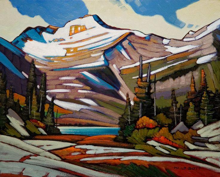 Saghali Mtn., Jasper National Park by Nicholas Bott