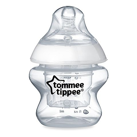 Newborns and preemies will have easier first feedings with Tommee Tippee's Closer to Nature First Feed Bottle. The 5-ounce bottle features an Easi-Vent valve system to keep air from entering the milk, and it includes a convenient breastmilk storage pot.