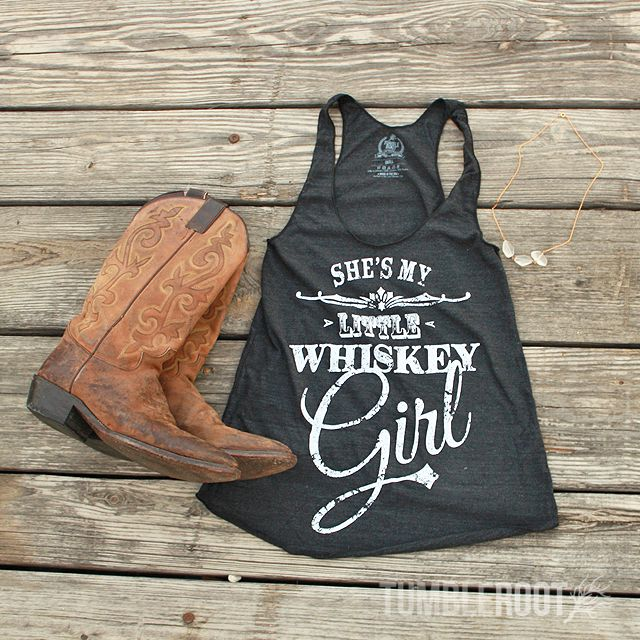 Whiskey Girl tank top by TumbleRoot. Perfect country girl outfit for Stagecoach, Country Thunder, Country Jam, or any country music festival! // tumbleroot.com