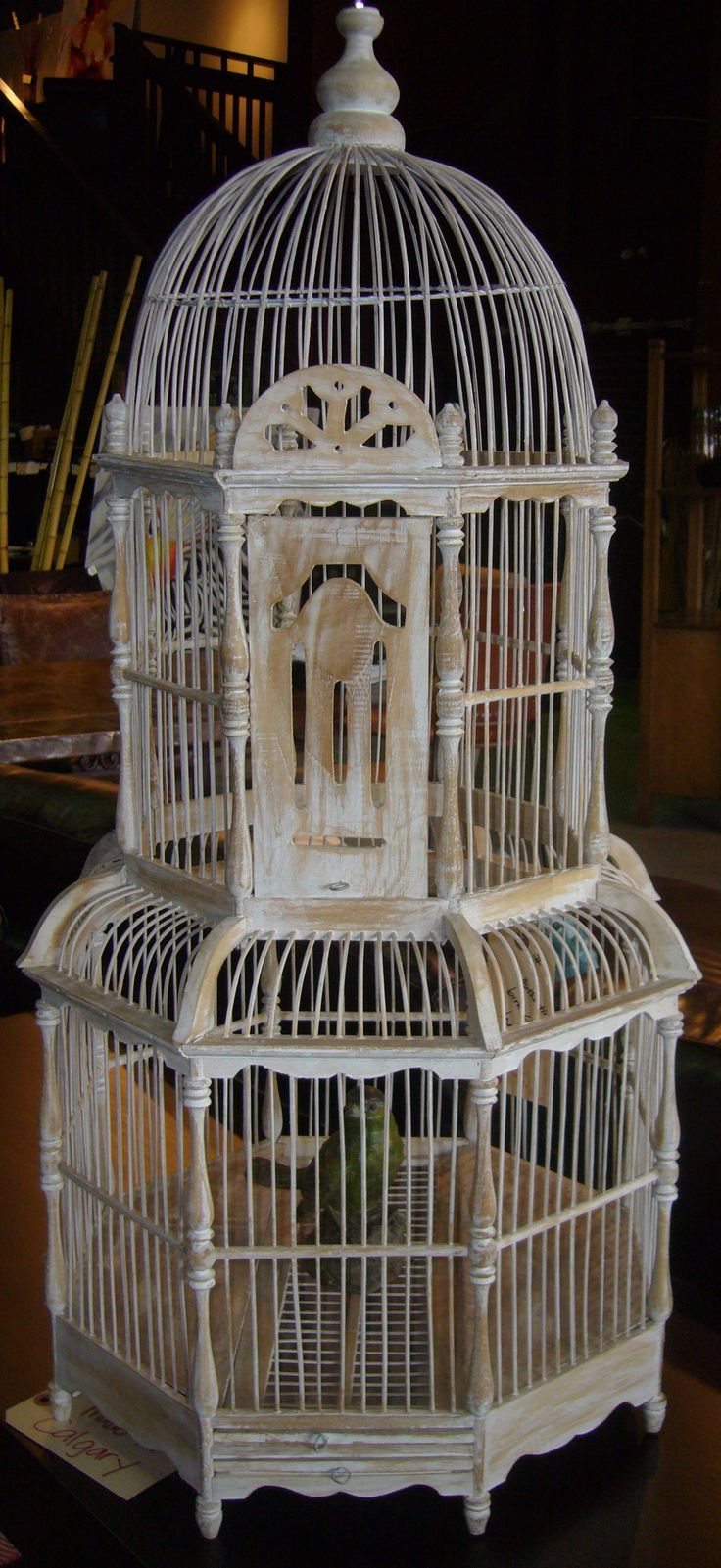 Rustic Chic Bird Cage! <3  Like us on Facebook and receive $25 off: www.facebook.com/showhomefurniture Or visit our website: www.showhomefurnituresale.com