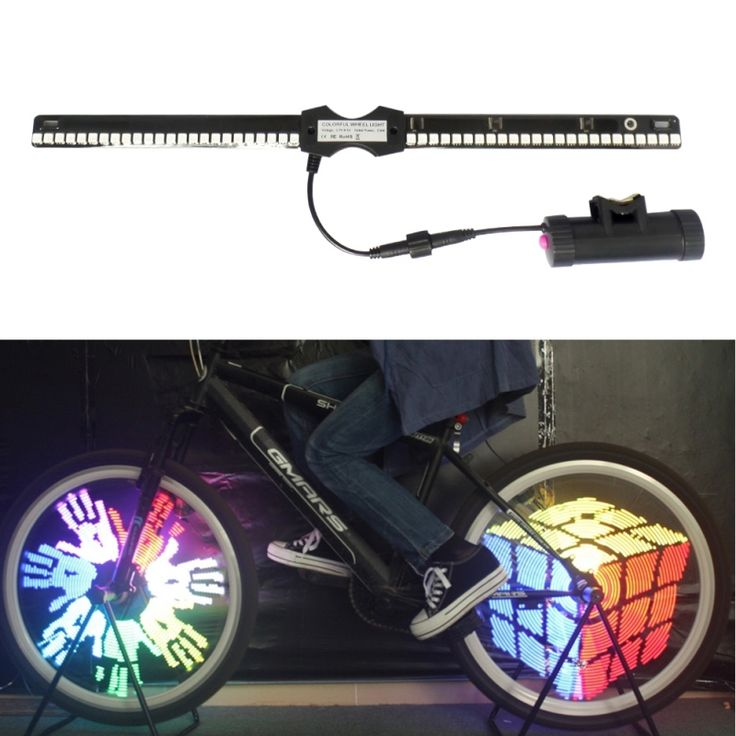 Bike Wheel Light Bicycle Lights Waterproof 96 LEDs Color Rechargeble Cycling Light EA14