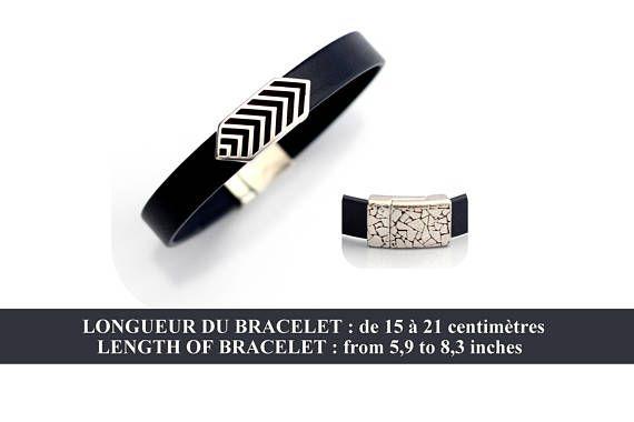 Bracelet Cuir Femme / Cuir souple Bleu marine / passant