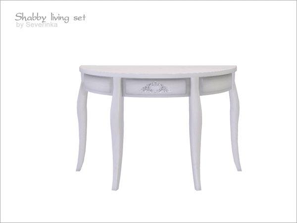 Severinka_u0027s Shabby Console Table