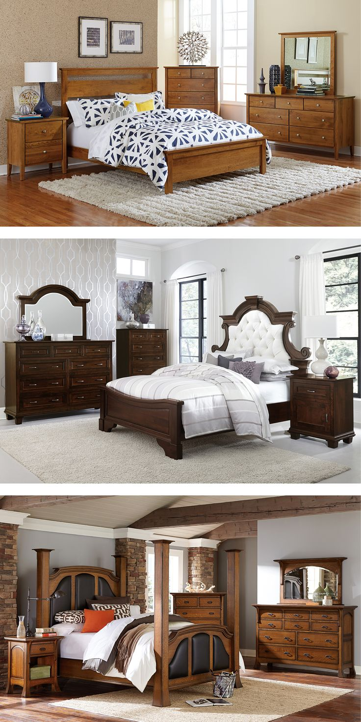 Customize your Amish handcrafted bedroom set in the solid wood and finish  of your choice.