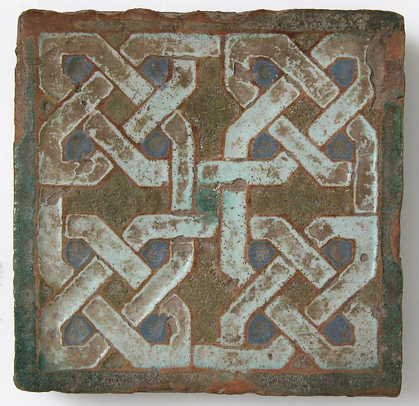Wall Tile. !5th Century. Made in Seville or Toledo, Spain. The Metropolitan Museum of art