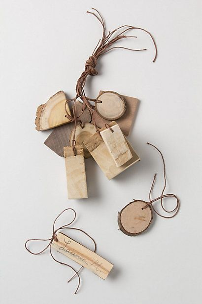 Tree Bark Gift Tag Set - Anthropologie.com: Gotta ask dad to make me some of these!