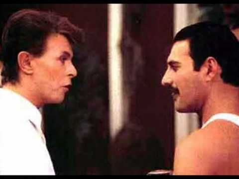 Under Pressure - Mercury & Bowie. somewhere in this house lives a video of me and an old friend preforming this at age 16. it is. sheer. insanity. for the record, I played the part of mercury despite my love for bowie.