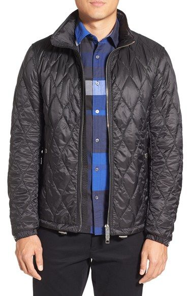 Burberry Brit 'Grantley' Quilted Zip Front Jacket