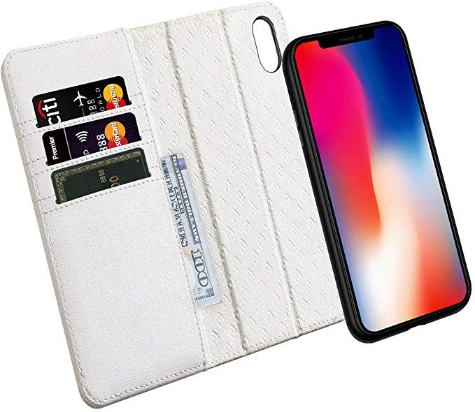Zover Compatible with iPhone Xs/X Case Detachable Genuine Leather ...
