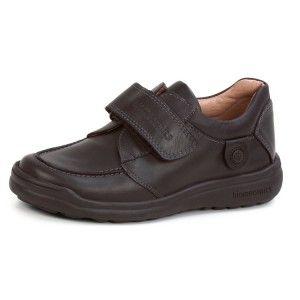 Zapatos escolares niño Biomecanics marrón velcro