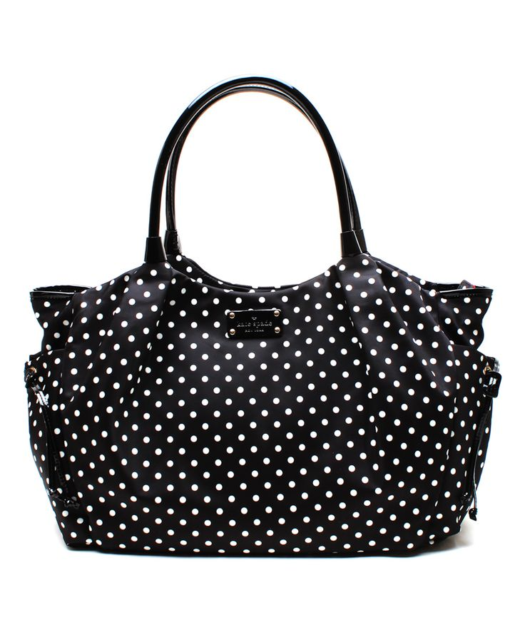 Black & Cream Stevie Baby Diaper Bag | I think this is the one I saw and liked at the outlet!