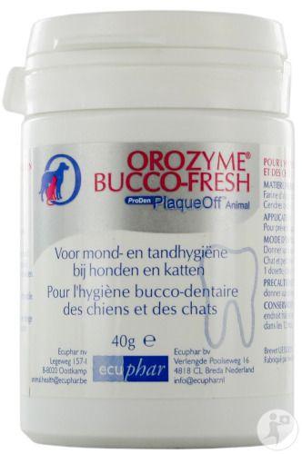40g - Bij honden en katten, ter voorkoming van tandplak en een slechte adem -------------- 17.70€