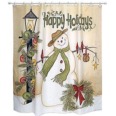 Fall Shower Curtains   Snowmen Shower Curtain   Meijer.com