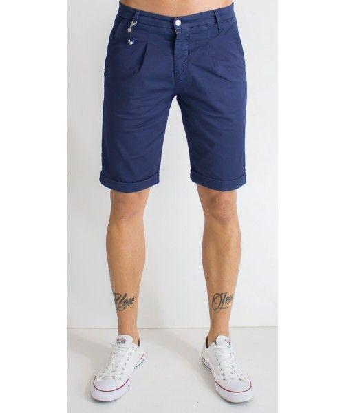 Bermuda tasca america in cotone dalla vestibilità slim disponibile in diversi colori - SSEINSE