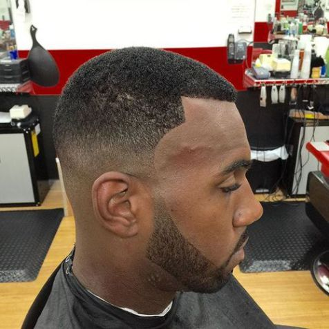 black fade haircut
