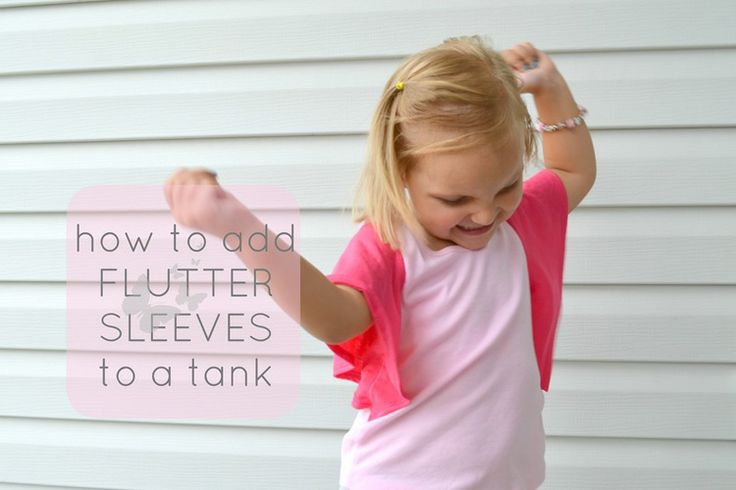 adding flutter sleeves to a tank top