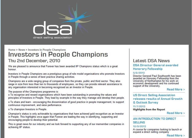 Forever awarded Investors in People Champion status