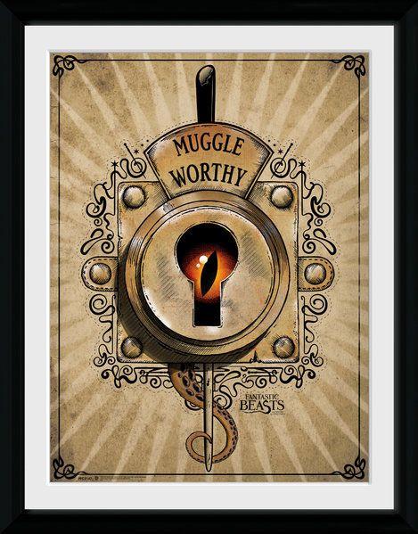 Phantastische Tierwesen Poster im Rahmen Muggle Worthy 45 x 34 cm
