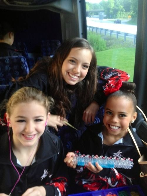 Making rainbow loom braclets on the bus!
