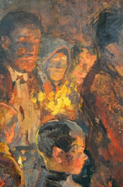 Nicolae Vermont ~ All-Night Vigil During Passion Week (detail)