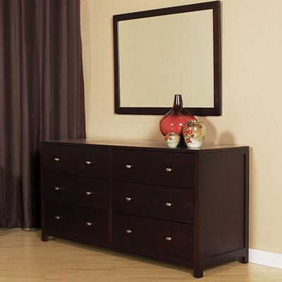 6 Drawer Double Dresser with Mirror - http://delanico.com/dressers/6-drawer-double-dresser-with-mirror-640516988/