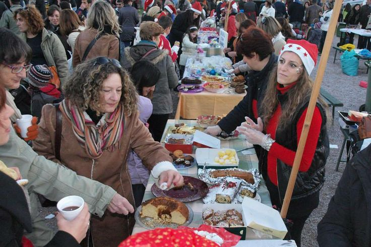 All local women (esp from other nationalities!) made sweets and served them to people ...for free!
