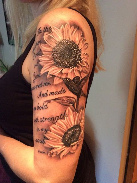 18 Stunning Sunflower Tattoo For Women