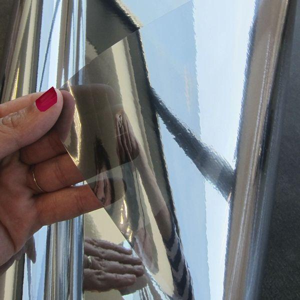 Film électrostatique miroir sans tain repositionnable