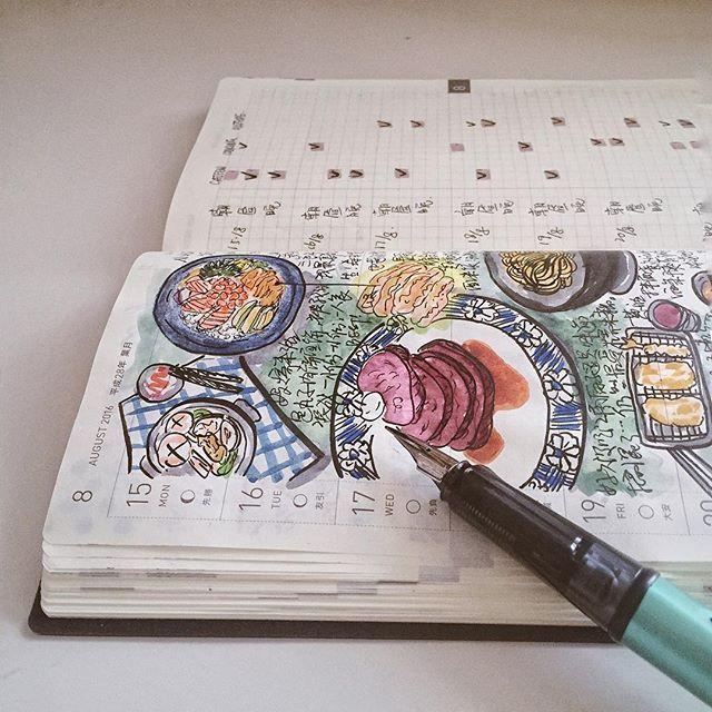 #journal#diary#notebook#文房具#手帳#日記#hobonichi#Hoboweeks#hobo#手帳好朋友#ほぼ日#ほぼ日#scrawl#sketch#sailor#pen#food#foodie#lovelife#breakfast#lunch#dinner#vscocam#lovelife#stationery