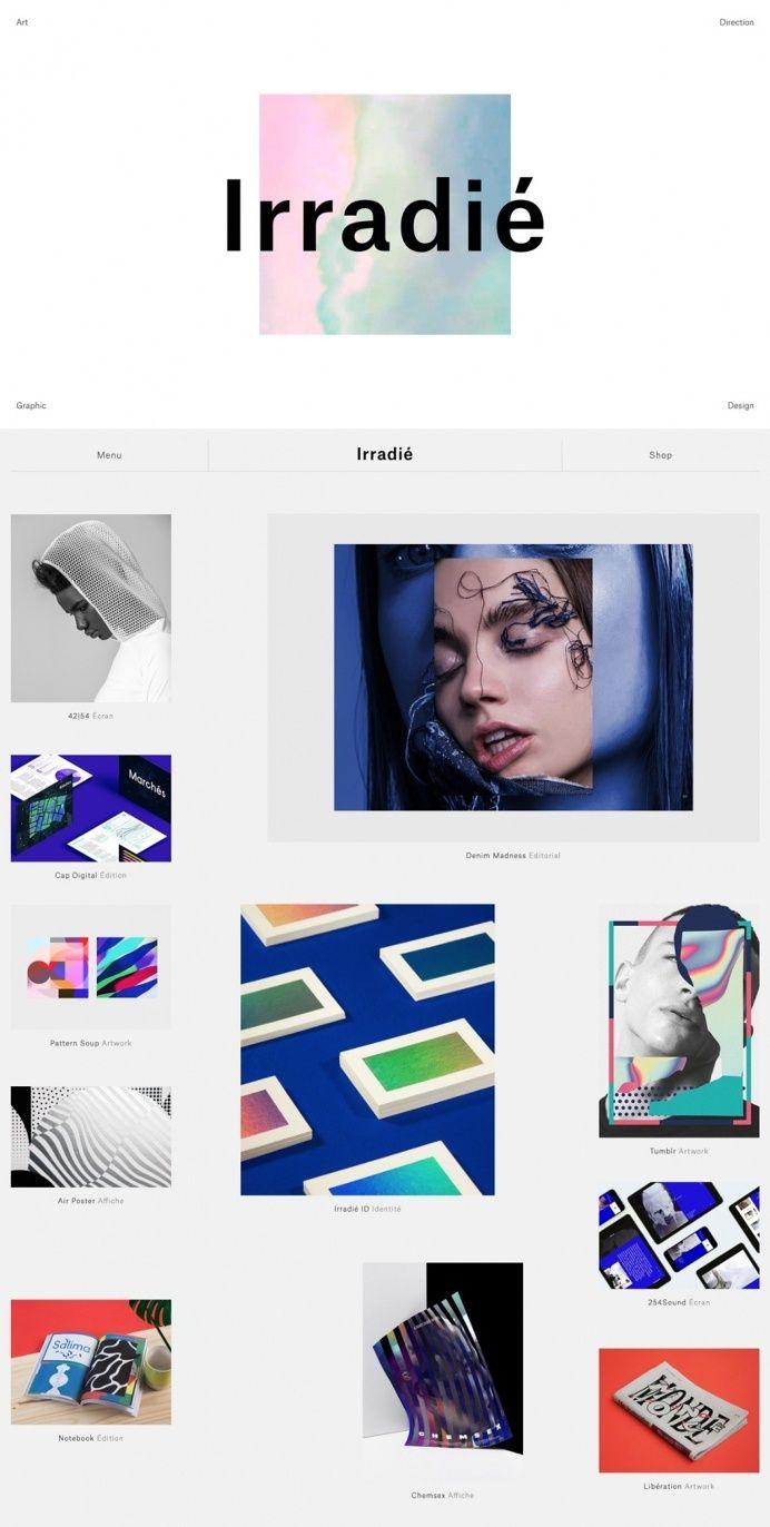 Irradie creative direction france design webdesign website shop francais inspiration mindsparkle mag