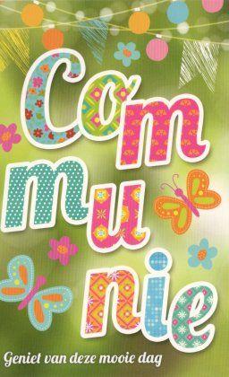 Communie! Geniet van deze mooie dag!    # mooie communiekaartjes voor meisjes  #communie  #communiekaartjes