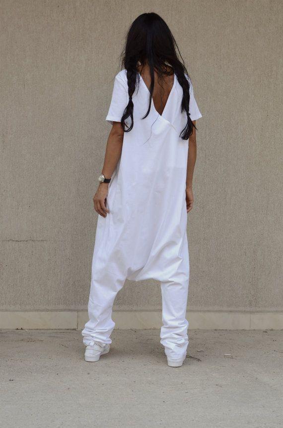 OP verkoop witte Jumpsuit / losse Jumpsuit / door KOTYTOstyleLAB